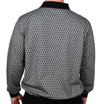 Load image into Gallery viewer, Classics by Palmland Long Sleeve Banded Bottom Shirt 6198-308 Black - theflagshirt