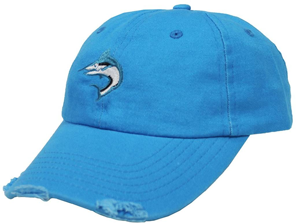 Biscayne Bay Tattered Hat Aqua - banded bottom