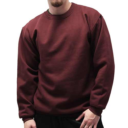 Fleece Crewneck Long Sleeve Sweat Shirt 6400-450  Burgundy - theflagshirt