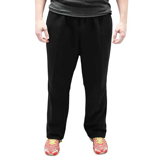Full Elastic Pull on Fleece Pant - 6400-453BT Black - Big and Tall