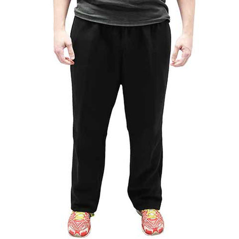 Full Elastic Pull on Fleece Pant - 6400-453BT Black - Big and Tall - bandedbottom