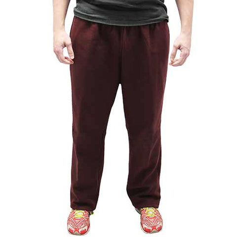 Full Elastic Pull on Fleece Pant - 6400-453BT Burgundy - Big and Tall - bandedbottom