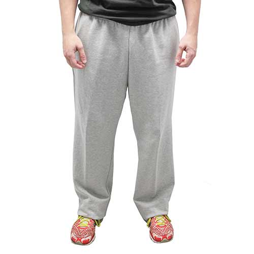 Full Elastic Pull on Fleece Pant - 6400-453 Grey Heather