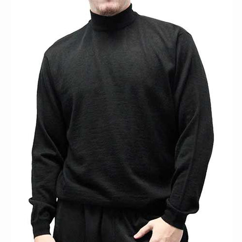Cellinni Men's Solid Mock Turtleneck Sweater 6800-500 - theflagshirt
