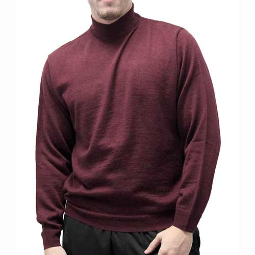Cellinni Men's Solid Mock Turtleneck Sweater - Big and Tall 6800-500 - theflagshirt