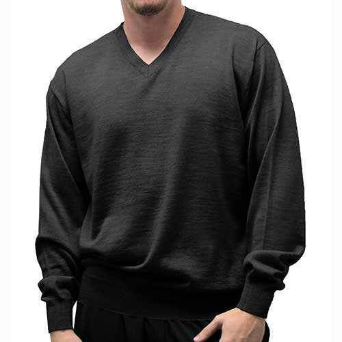Cellinni Men's Solid V Neck Sweater 6800-501 - theflagshirt