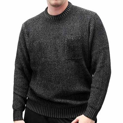 Men's Pullover Knitted Sweater 6800-821 Black - bandedbottom