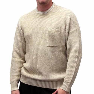Men's Pullover Knitted Sweater 6800-821 Oatmeal