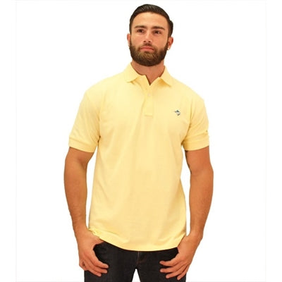 Biscayne Bay Embroidered Men's Polo - Banana - bandedbottom
