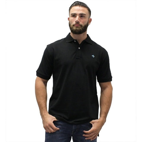 Biscayne Bay Embroidered Men's Polo - Black - bandedbottom