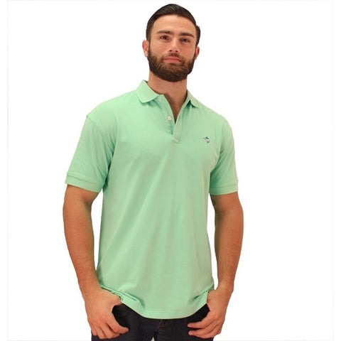 Biscayne Bay Embroidered Men's Polo - Kiwi - theflagshirt