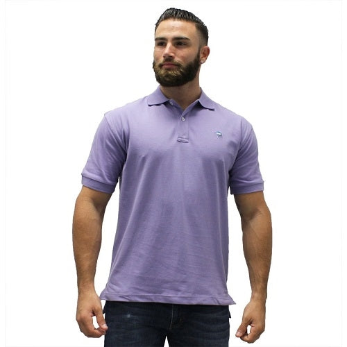 Biscayne Bay Embroidered Men's Polo - Lilac - bandedbottom
