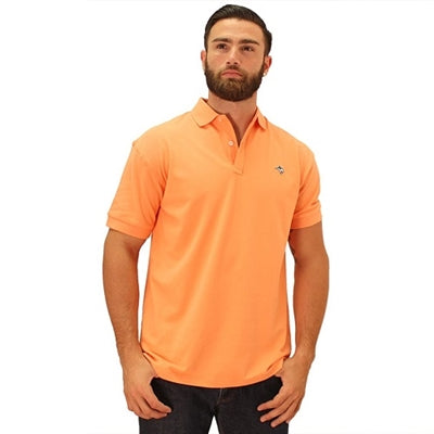 Biscayne Bay Embroidered Men's Polo - Mango - bandedbottom