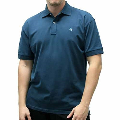 Biscayne Bay Embroidered Men's Polo - Navy - theflagshirt