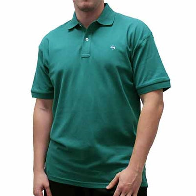 Biscayne Bay Embroidered Men's Polo - Pine - bandedbottom