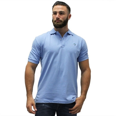 Biscayne Bay Embroidered Men's Polo - Powder - theflagshirt