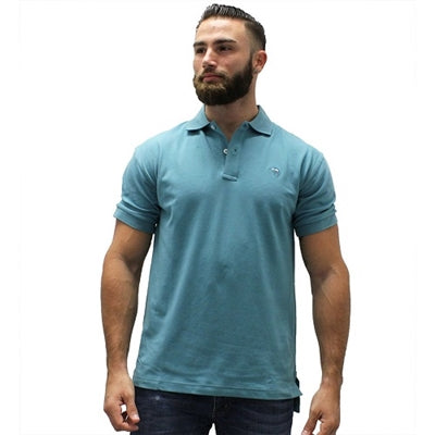 Biscayne Bay Embroidered Men's Polo - Teal - bandedbottom