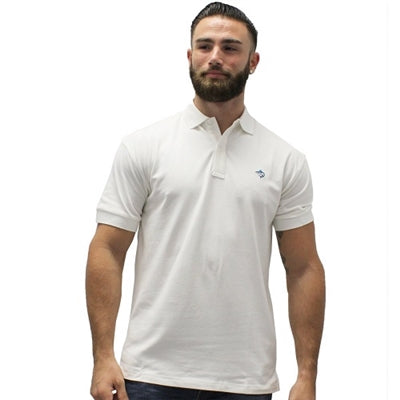 Biscayne Bay Embroidered Men's Polo - White - bandedbottom