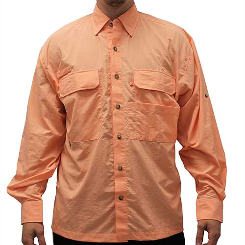Biscayne Bay Long Sleeve Fishing Shirts - Coral - bandedbottom