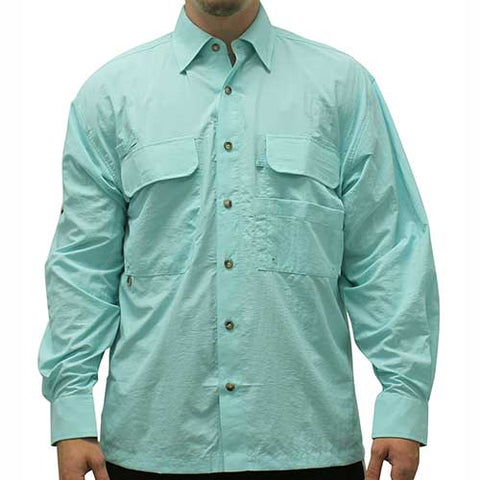 Biscayne Bay Long Sleeve Fishing Shirts - 7200-300 Foam - theflagshirt