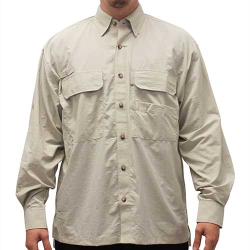 Biscayne Bay Long Sleeve Fishing Shirts - 7200-300 Tan - bandedbottom