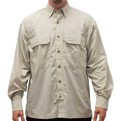Biscayne Bay Long Sleeve Fishing Shirts - 7200-300 Tan - theflagshirt
