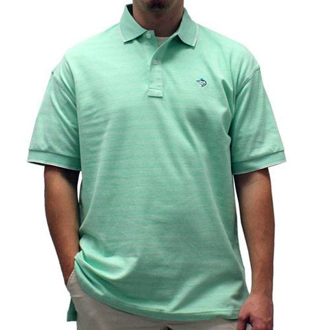 Biscayne Bay Short-Sleeve Striped  Polo - 7200-410 Kiwi - theflagshirt