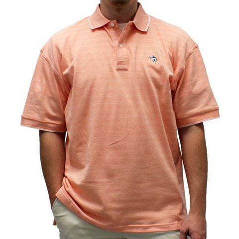 Biscayne Bay Short-Sleeve Striped  Polo - 7200-410 Mango - theflagshirt