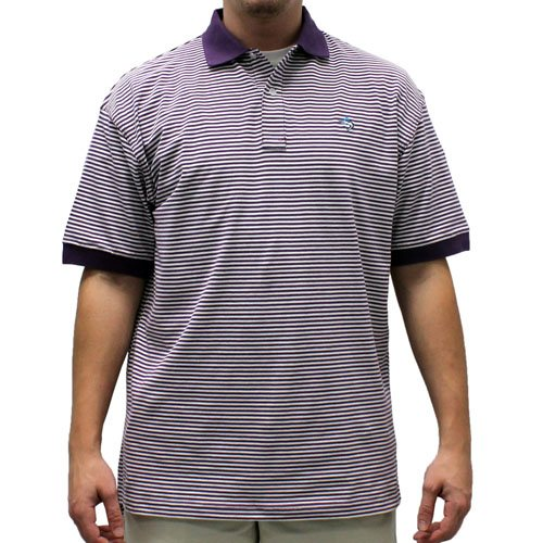 Biscayne Bay Horizontal Feed Stripe Polo - 7200-411 Plum - theflagshirt