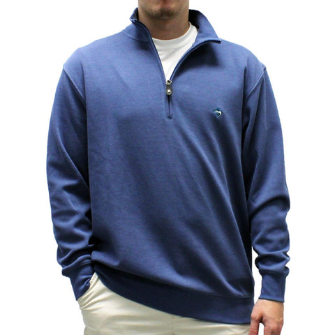 Biscayne Bay L/S Solid Rib Knit Sweater Big and Tall - Blue 7200-605BT - theflagshirt