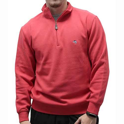 Biscayne Bay L/S Solid Rib Knit Sweater Big and Tall - Guava 7200-605BT - theflagshirt