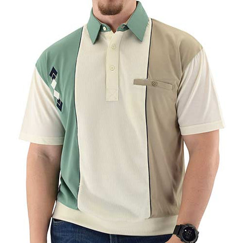 Classics by Palmland Knit Short Sleeve Banded Bottom Shirt Sage - theflagshirt