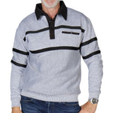 Classics by Palmland Two Tone Fleck Fleece Banded Bottom Shirt BLF1810 Big and Tall Grey - theflagshirt