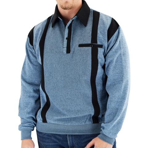 Classics by Palmland Two Tone Banded Bottom Shirt BLF184BT-BLUE - Big and Tall - bandedbottom