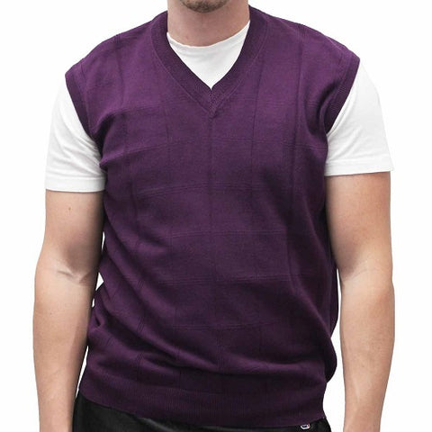 Men's Pullover Vest Big and Tall - CROSBY - bandedbottom