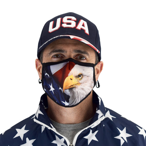 eagle face covering mask - banded bottom