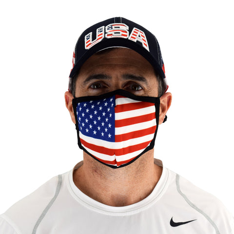 cloth face covering with american flag - the flag shirt