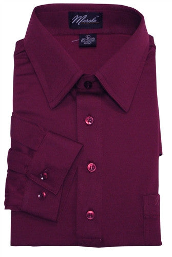 Merola Long Sleeve Pocket Polo Shirt - Burgundy - bandedbottom