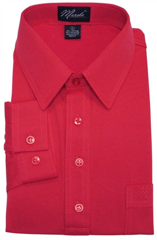 Merola Long Sleeve Pocket Polo Shirt - Red - bandedbottom