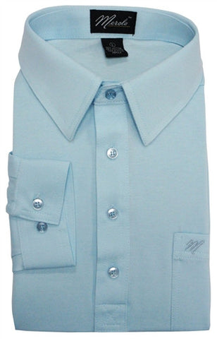 Merola Long Sleeve Pocket Polo Shirt - Sky Blue - bandedbottom