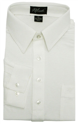Merola Long Sleeve Pocket Polo Shirt - White - bandedbottom