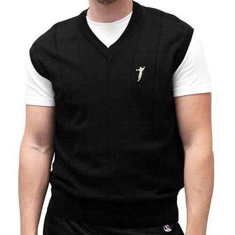 Men's Pullover Vest with embroidery - bandedbottom