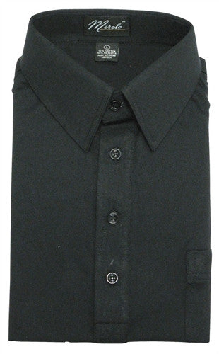 Merola Short Sleeve Pocket Polo Shirt - Black - bandedbottom