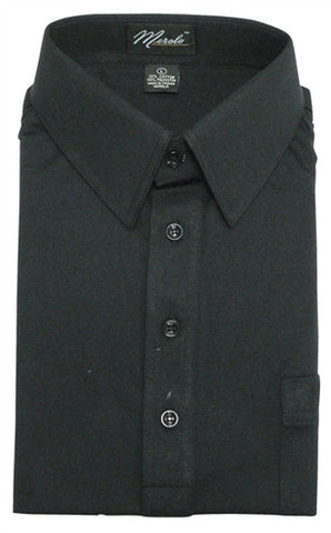 Merola Short Sleeve Pocket Polo Shirt - Black - theflagshirt