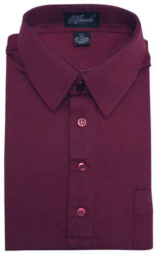 Merola Short Sleeve Pocket Polo Shirt - Burgundy - bandedbottom