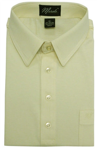 Merola Short Sleeve Pocket Polo Shirt - Cream - bandedbottom