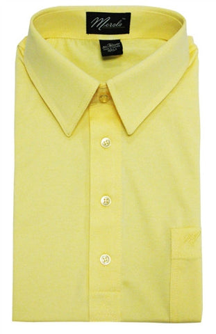 Merola Short Sleeve Pocket Polo Shirt -  Maize - bandedbottom