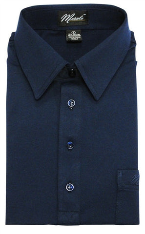 Merola Short Sleeve Pocket Polo Shirt -  Navy - theflagshirt