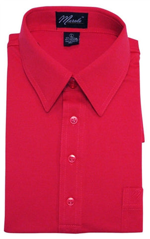 Merola Short Sleeve Pocket Polo Shirt - Red - bandedbottom