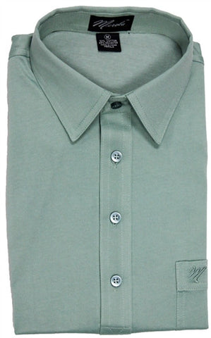 Merola Short Sleeve Pocket Polo Shirt - Sage - bandedbottom
